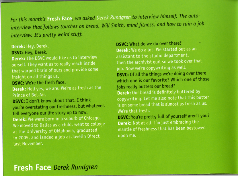 DSVC Rough Magazine-Volume 16-Issue 133-Fresh Face Interview2