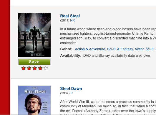 Steel Netflix search